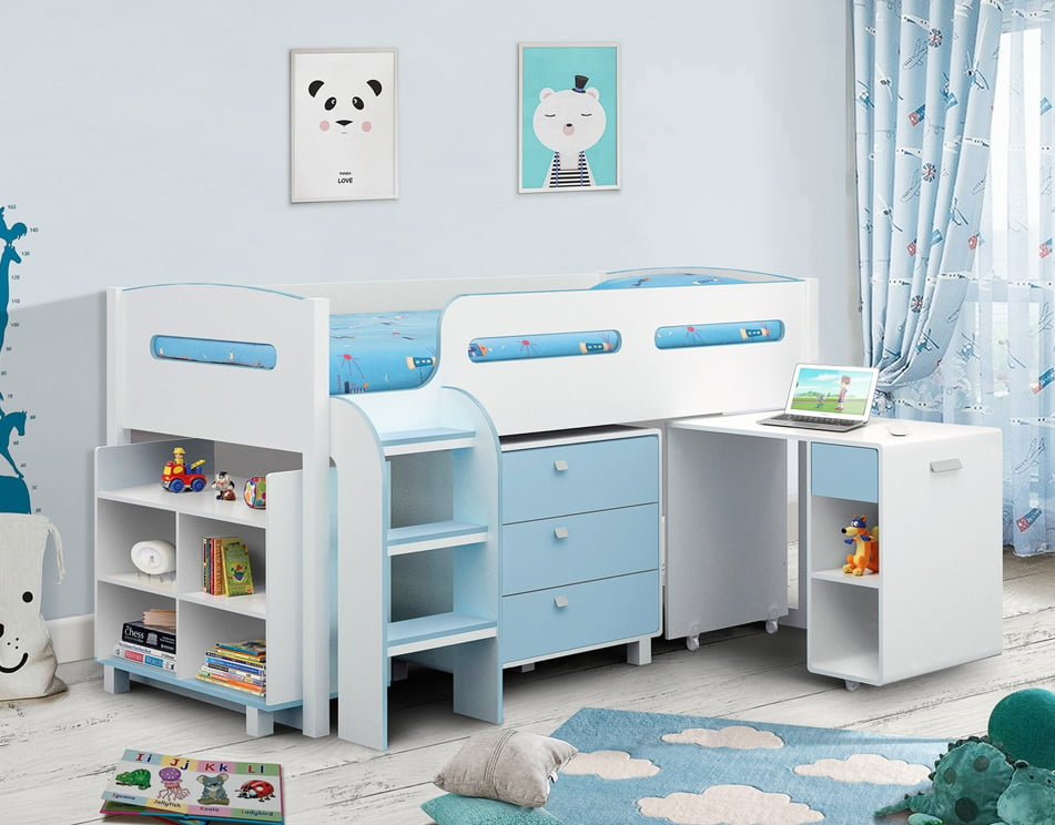 Kimbo Blue Cabin Bed