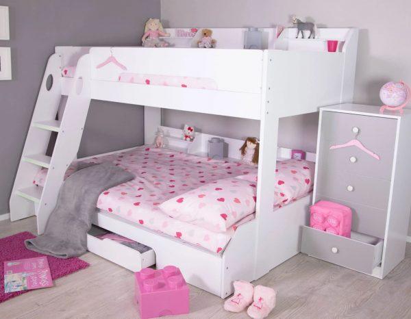 flick triple bunk bed girls