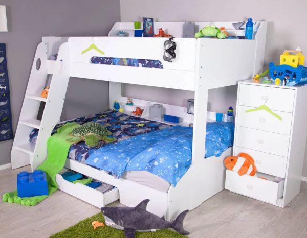flick triple bunk bed kids