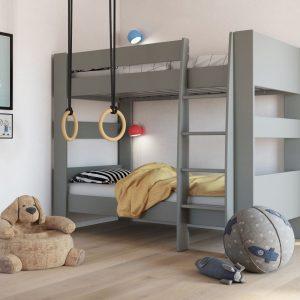 memphis bunk bed grey