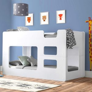 solar white bunk bed